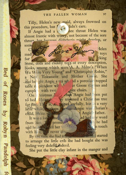 Norma Kooi. Fabric Altered Book, Page 5
