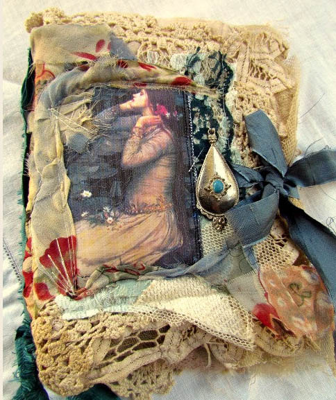 Shabby Chic Romantic Fabric Journal