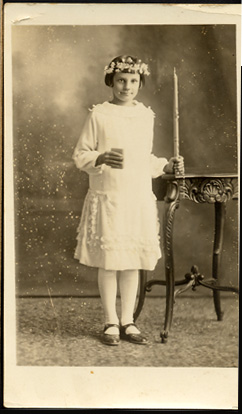 Linda Morgan ,OR (real antique postcard)