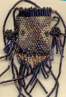 Gillian Allen beaded amulet purse