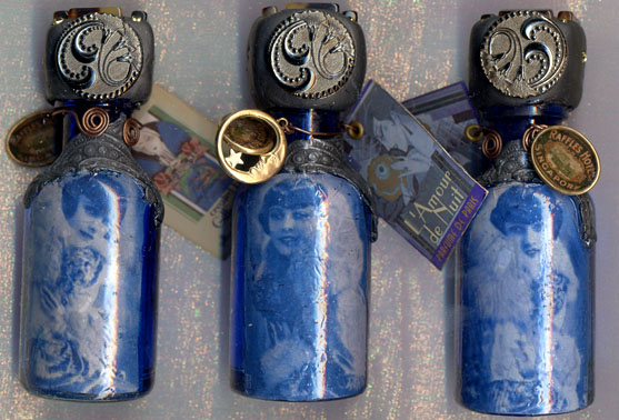 Gillian Allen, Art Deco/20's bottles 4 inches high