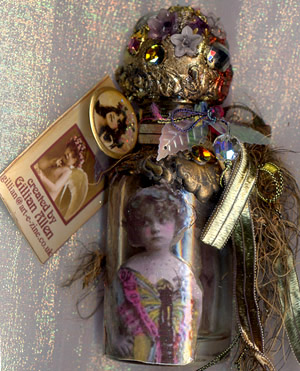 Gillian Allen, Fairy bottle,4 inches high