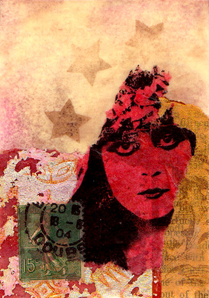 Amber Gibbs, 'Theda' beeswax collage
