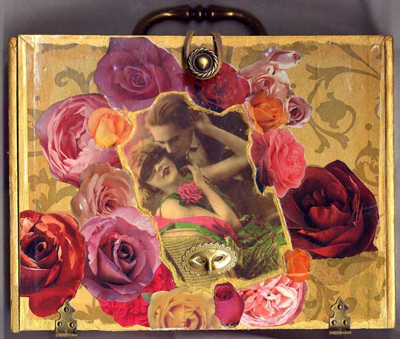 Linda Mitcheltree Masquarade cigar box purse