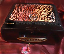 Tamara Saranpaa, OR. leopard skin  cigar box top