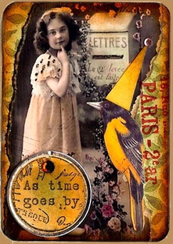 as time goes by: altered art card