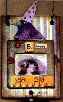 B Happy: altered slide mount card
