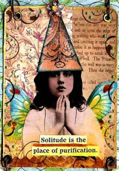 solitude: altered art card