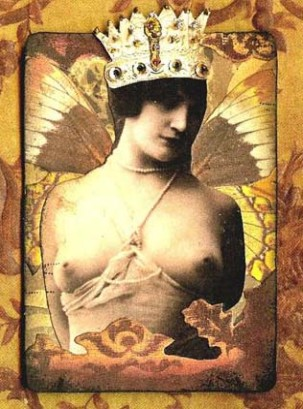 atc crowned butterfly lady