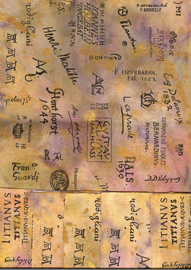 Lilla Le Vine: Famous Artists Signatures Paper