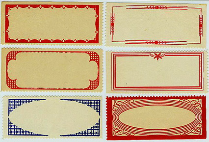 Vintage Labels, Lisa Cook