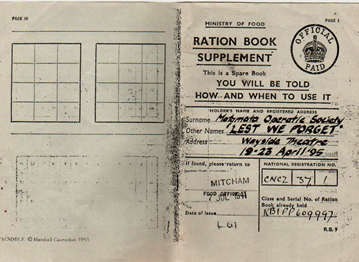 Ration Book, Lilla Le Vine
