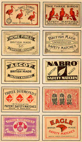 Vintage Matchbox lables, sent in by G Allen