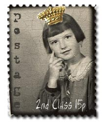 booth photo stamp digi collaged crown