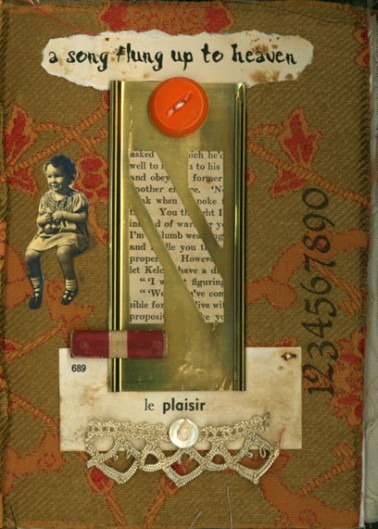 Norma Kooi. Fabric Altered Book, Cover