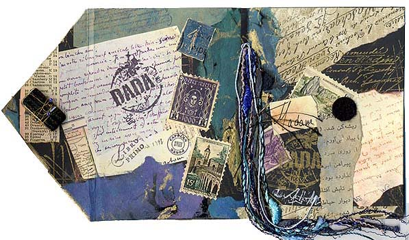Marie Skrotzki / mini journal/ open outside