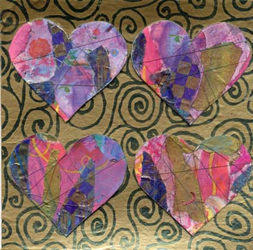 Gillian Allen/Collaged Hearts