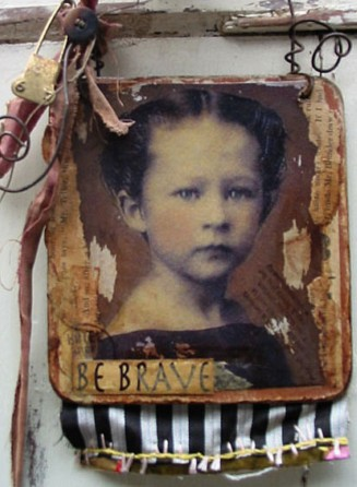 Canvas Collage: Be Brave