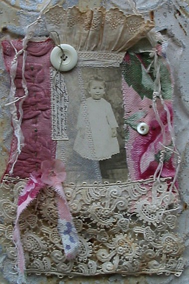 Fabric Collage: Just Pink