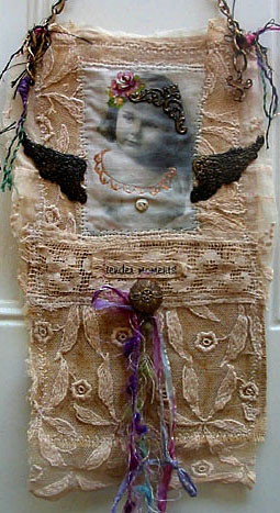Fabric Collage: Tender Moments