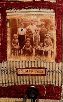 Fabric Collage: Country Folk