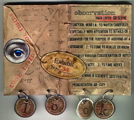 observation altered book page