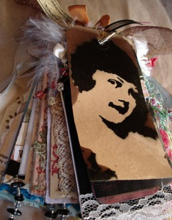 StenciledTag Book Cover experiment, Gillian Allen