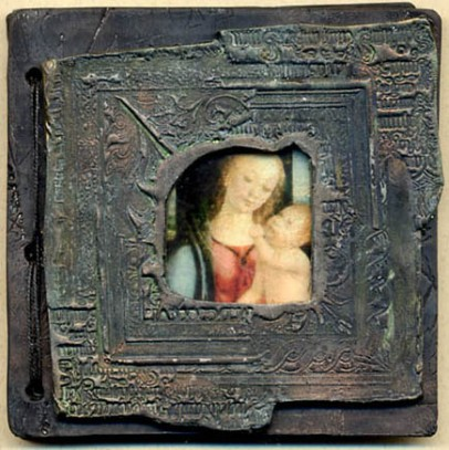 Catherine Withrow ,Medieval Madonna Journal, 3 3/4 x 3 3/4 ins  highlight text info on page