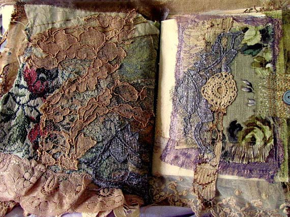Shabby Chic Tattered Lace Journal, Inside