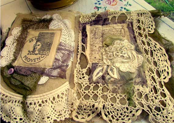Shabby Chic Vintage LaceBook: This lavishly created Lace book has been made from a large number of vintage laces, doilies,