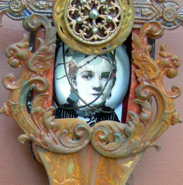 VICTORIA DREAMING Mixed Media Altered Art Tin