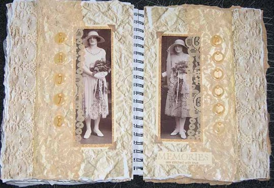 Louise Kolker, Altered book pages