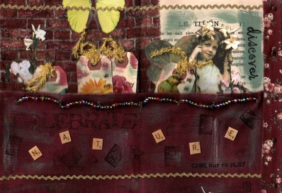 Belinda Schneider, 'Bella' altered book page