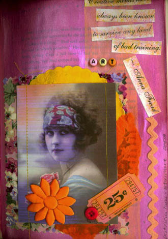 Patricia Stewart, Fabric book altered page