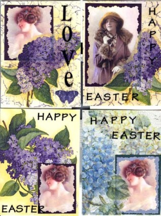 Lin Frye, Oxford, NC, USA, Easter Cards