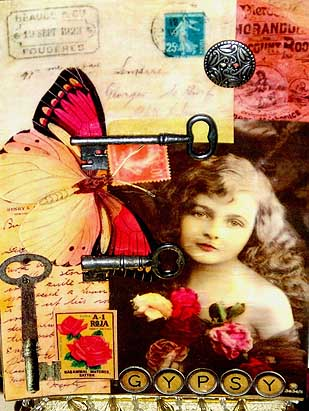 Ginger Giffin , art card gypsy girl