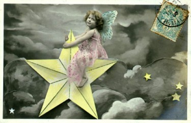 Vintage Images Children/girl on a star