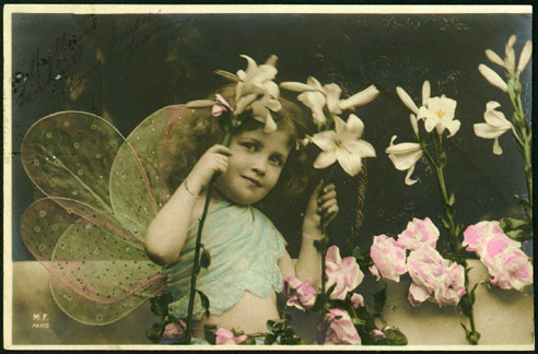 Vintage Images Children/fairy girl