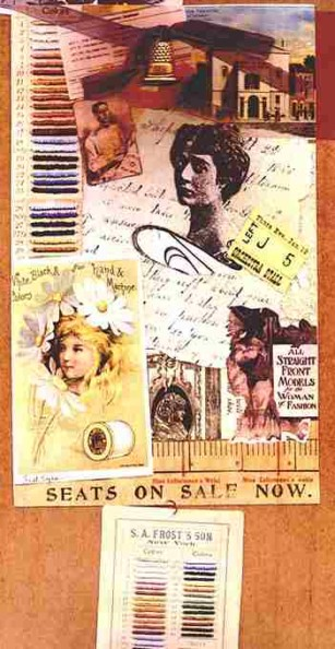 Fasteyes/The Wardrobe Mistress, Collage Card