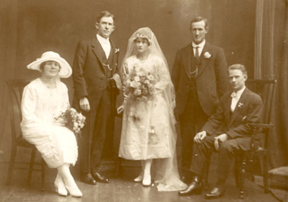sent in by Barb Thomas, Wedding1921