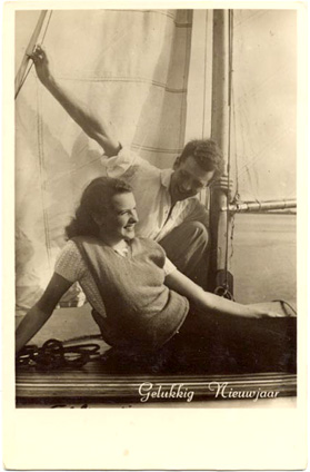 Vintage Image, 1940's boating
