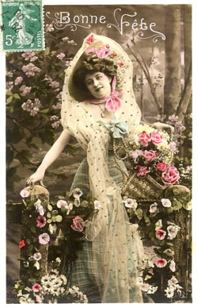 Vintage Image, French Postcard