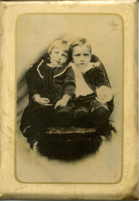 Brother & Sister tin type Leslie Serpas