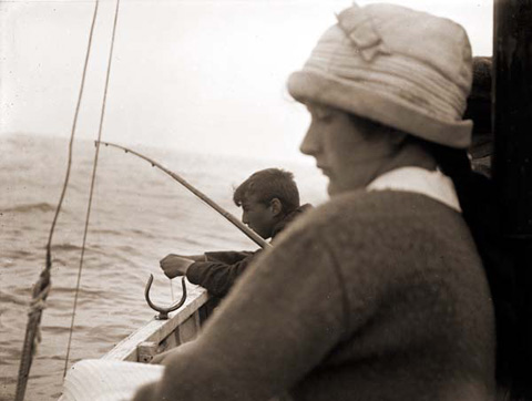 Vintage Image, Girl on Boat sent in by Peter Lagan