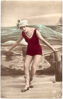 Tracy Roos,Vintage image,1920's bathing belle