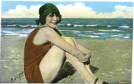 Tracy Roos, Vintage image,1920's bathing belle