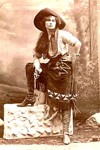 Vintage Photo, Wild West armed cowgirl