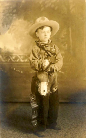 Vintage Photo, Young cow boy