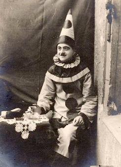 Vintage Photo, clown
