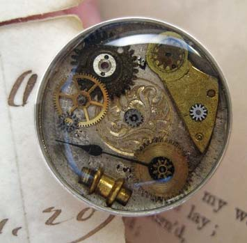 Ring Victorian antique watch parts